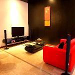 in villa living room