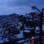 View of Shimla from the terrace at early morning