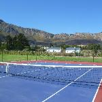Tennis Court & Toffee & Appels Cottages
