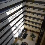 Inside the main hotel building