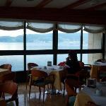 La bahía, desde la cafetería del Stella Maris.