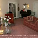 """The  sitting room of """"663"""" is a great place to meet other guests."""