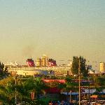 View of the Magic in port