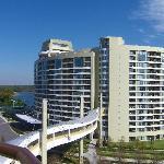 Bay Lake Towers from balcony