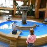The fountain in the breakfast  room-beautiful attraction and my kids loved it