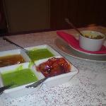 Lurid Green Yoghurt, Onions a la Tomato