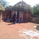 Kalbeliya dance in cortyard