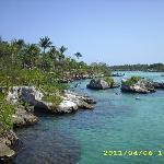 Xel-Ha , ein Ntrurschutzgebiet , wo Salz- und Süßwasser aufeinander trifft