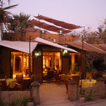 Sandele reception and restaurant in evening