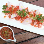tasmanian salmon with spicy sauce