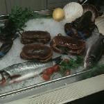 il pesce freskissimo,crostacei ancora vivi