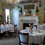 West side dinning area at Christmas