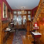 Looking towards Inn's entry - love the woodwork