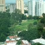 View of the golf course from the hotel room