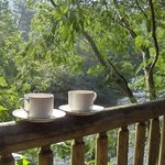 Enjoy your morning coffee by the river