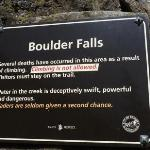 heed the warning and stay on the trail, but don't let this scare you.