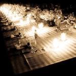 Wedding dinner on the beach