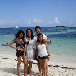 mi familia en este hermoso paraiso