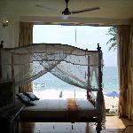 Bedroom overlooking beach