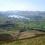 View of Derwent Water from the top of Skiddaw.