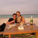 unser private dinner auf White Island - danke!