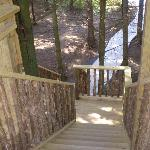 steps up to cabin
