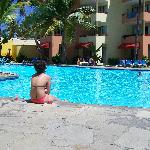 this is the pool right by our room