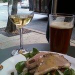 Spinach & duck salad