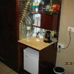 Adequate tea maker and other amenities
