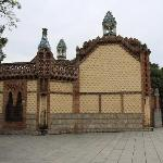 Gaudi's Finca Guell at across the street