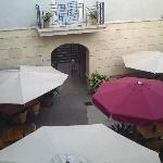 View from room overlooking courtyard
