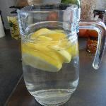 Lemon water from their orchard