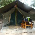 Comfortable tented accommodation