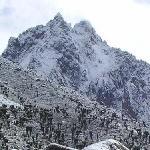 Close look on Mt. Kenya at Mackinders