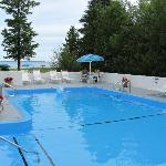 Enjoy a splash in our outdoor heated pool