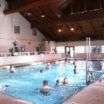 Indoor pool also has a hot tub, 2 saunas and a gated, children's pool