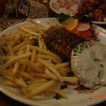 Pork meat with french fries