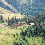 arial view of the lodge property