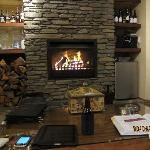 """Open fire and """"honesty bar"""" - brilliant!"""