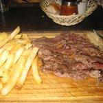 Arrachera and fries
