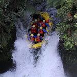 Over the 7m falls we gooooooooooo...