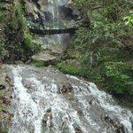 Cold water from the mountain, creat a beautiful waterfalls!