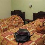 The beds- new bedding, clean & comfortable