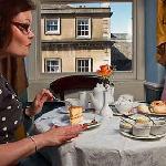 Window table at the Regency Tea Room