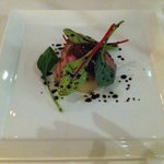 starter with duck & pear