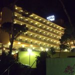 View of hotel in the evening