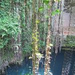 cenote visitée pendant l'excursion à Chichen  Itza
