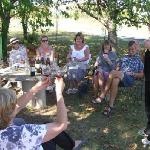 Wine tasting at Chateau Feely