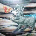 wolf den wall paper