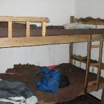unforunately the only pic I took of this place. Lumpy bunks